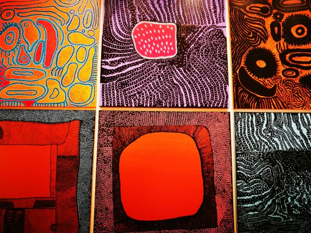 multi-colour art